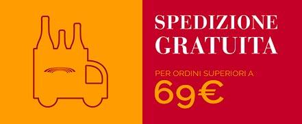 Spedizione gratuita per ordini superiori a 69€